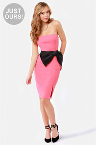 LULUS Exclusive Stunning Side Up Strapless Coral Dress at Lulus.com!
