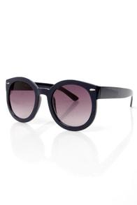 24-Seventies Navy Blue Sunglasses at Lulus.com!