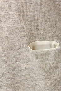 Natural Overachiever Grey Sweater Top at Lulus.com!