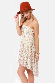 Rosette for Life Cream Floral Print Dress at Lulus.com!