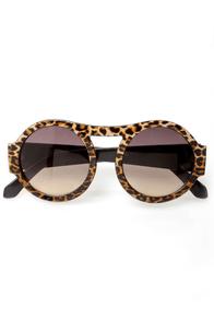 Trend Spotter Leopard Print Sunglasses