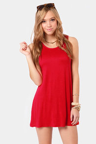 Tank My Breath Away Red Dress at Lulus.com!