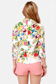 Enchanted Florist Floral Print Blazer at Lulus.com!