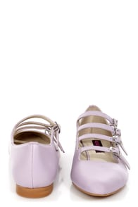 Mojo Moxy Mayfair Lilac Strappy Pointed Flats at Lulus.com!