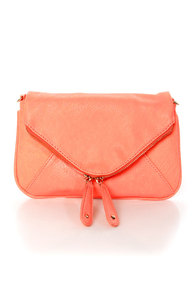 Friday Night Brights Neon Coral Handbag at Lulus.com!