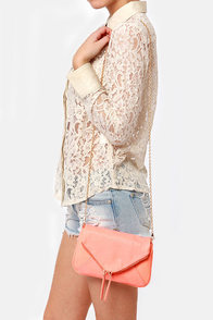 Friday Night Brights Neon Coral Handbag at Lulus.com!