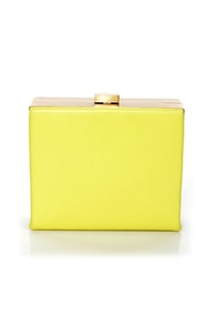 Gasping for Square Yellow Clutch
