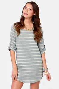 Nothin' But Blue Skies Striped Shift Dress at Lulus.com!