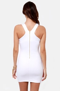 Flight of the Contours White Dress at Lulus.com!