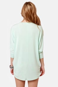 Novel-Tee Shop Mint Blue Top at Lulus.com!