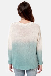 Mink Pink Melting Moments Blue Ombre Sweater at Lulus.com!