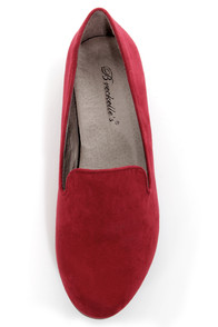 Jojo 01 Red Smoking Slipper Flats at Lulus.com!