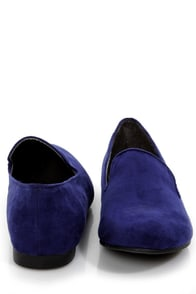 Jojo 01 Blue Smoking Slipper Flats at Lulus.com!