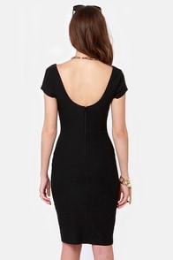 Leading Lady Black Midi Dress at Lulus.com!