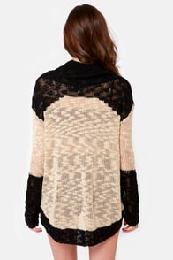 Two Ways About It Beige and Black Sweater at Lulus.com!