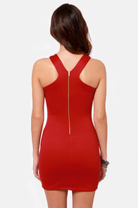 Flight of the Contours Red Dress at Lulus.com!
