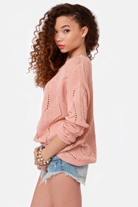 You Can Bet On Knit Blush Pink Sweater at Lulus.com!