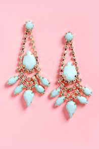Jewels of the Trade Mint Rhinestone Earrings at Lulus.com!