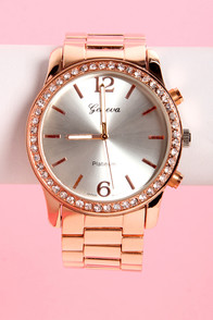 Time to Shine Rose Gold Boyfriend Watch at Lulus.com!