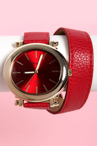 Oh Snap! on the Wrist Wraparound Red Watch at Lulus.com!