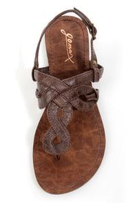 GoMax Berdine 80 Brown Loopy Thong Sandals at Lulus.com!