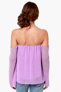 LULUS Exclusive Landslide Off-the-Shoulder Lavender Top at Lulus.com!