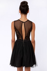 LULUS Exclusive Open and Shut Lace Cutout Black Dress at Lulus.com!