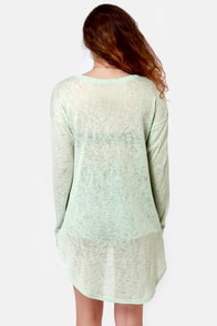 Candied Goods Mint Green Sweater Top at Lulus.com!
