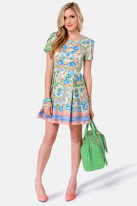 Pleat-y as a Picture Floral Print Dress at Lulus.com!