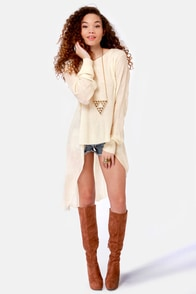 Swing Low Ivory Sweater Top at Lulus.com!
