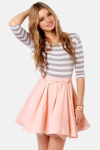 Cute Peach Skirt Mini Skirt Tulle Skirt 47 00