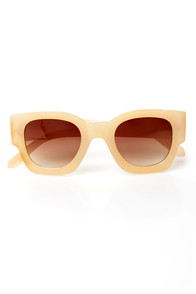 Beverly Hills Cream Sunglasses