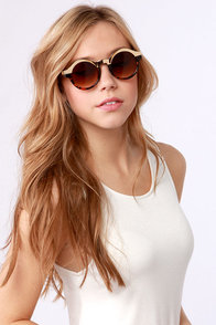 Specs Mix Gold and Tortoise Sunglasses at Lulus.com!