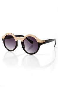 Specs Mix Rose Gold and Black Sunglasses at Lulus.com!