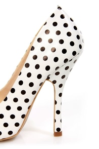 Shoe Republic LA Define White and Black Polka Dot Pointed Pumps at Lulus.com!