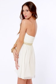 Swanky Doodle Dandy Beaded White Dress at Lulus.com!