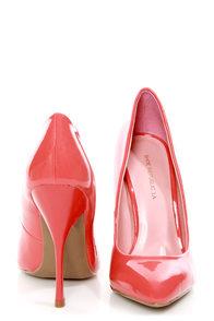 Shoe Republic LA Ethel Coral Patent Pointed Pumps at Lulus.com!