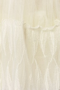 Odette's Vignette Strapless Cream Dress at Lulus.com!