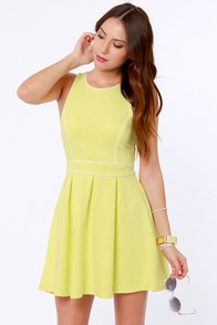 Lost Myrna Yellow Dress at Lulus.com!