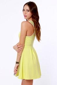 Lost Myrna Yellow Dress at Lulus.com!