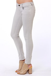 Lost Edith Grey Skinny Jeans at Lulus.com!