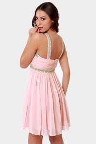 Elegance in the Room Pink Beaded Dress at Lulus.com!