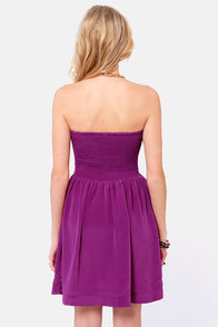 Roxy Good Times Strapless Purple Dress at Lulus.com!