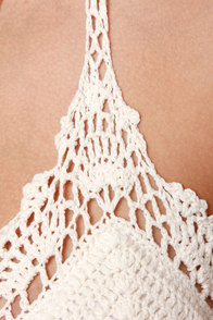 My Oh My Cream Crochet Bikini at Lulus.com!