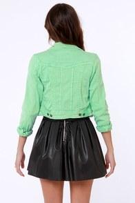 Lost Carper Distressed Green Denim Jacket at Lulus.com!