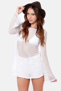 Roxy Sweet Terrain White Mesh Cover-Up at Lulus.com!