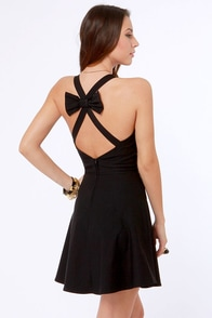 Because You Bow Better Black Dress at Lulus.com!