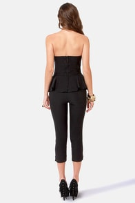 LULUS Exclusive This Girl is On Fire Strapless Black Jumpsuit at Lulus.com!