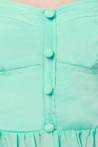 Roxy Good Times Strapless Mint Green Dress at Lulus.com!