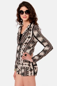 Hipper Zipper Tribal Print Jacket at Lulus.com!